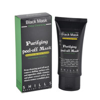 máscara de peeling de algas al por mayor-Shills Peel-off face Masks Limpiador profundo Black MASK Blackhead Facial Mask Shills Deep Cleansing Black MASK Matte DIY 50ml COPY ONES 0611031