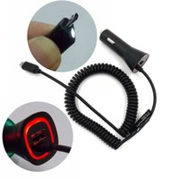 Wholesale Decorative Chargers - Wholesale- Newest 5V 2.1A USB Car Charger have Red Led Decorative Lights and Auxiliary Touch-sensitive Lights For Android Smartphone