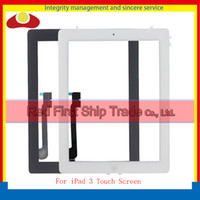 Wholesale Home Button Sticker White - For Ipad 2 ipad 3 ipad 4 Touch Screen Digitizer Panel Sensor Home Button Complete +Sticker +Camera Holder Assembly White Black