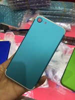 Wholesale green housing designs - newest colored New Design colorful Housing For Iphone 7 Plus Housing Black with Logo Alloy Frame Parts blue green pink Red black Housing