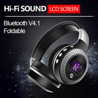 2017 B19 LCD Display HiFi bass Wireless Bluetooth Headset para iPhone 7 samung xiaomi auricular con Radio FM Micro-SD Slot