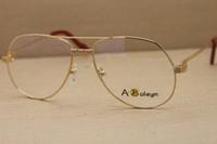ingrosso telaio di occhio famoso marchio-Hot 1324912 Occhiali da vista in metallo più grandi Occhiali da vista da donna famosi per occhiali da vista da uomo Frame Size: 59-15-140mm