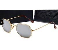 Wholesale Lunette Steampunk - 2017 Women Men Brand Designer metal frame Sun Glasses Lunette Gafas Oculos De Sol Feminino Eyewear Steampunk Goggles with Original box