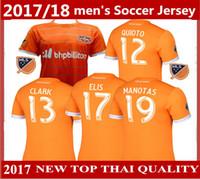 Wholesale Houston Shirts - new Houston Soccer jersey DYNAMO Home 2017 2018 Thai quality football shirt Houston Soccer uniforms MLS Dynamo American Major League jersey