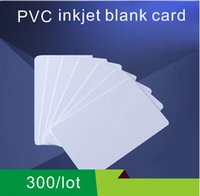 Wholesale Printer Card Tray - Wholesale- PVC Blank Inkjet Card Printable By Epson or Canon Printer with Card Tray and Any Ink300PCS Lot