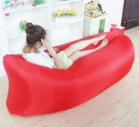 Wholesale Wholesale Plastic Beach Bags - Outdoor Inflatable Air Laybag Mattresses Sleeping Bag Hangout Lounger Camping Lazy Sofa Portable Beach Sleep Bed Beach Chair Matress HOT