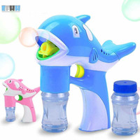 Bubble Gun Electric Dolphin Bubble Machine Toy Kid Outdoor Toys