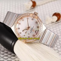 Wholesale Small Mechanical Watch - Luxury Brand High Quality Master Chronometer Small Second Automatic Womens Watch 127.25.27.20.55.001 Diamond RD Steel Strap Lady Watches