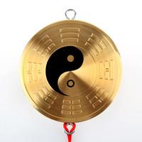 Wholesale Tai Chi Fans - Pure copper medallion jiugong bagua mirror hang tai chi Yin and Yang feng shui bagua mirror plane mirror's accessories