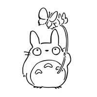 Wholesale Butterfly Glue - My Neighbor Totoro Chu Butterfly Vinyl Decal Funny Sticker Manga Anime Jdm Car Window Car Styling Accessories Decor