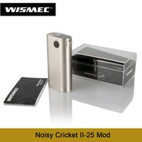 All'ingrosso-Più nuovo Wismec Noisy Cricket II-25 Mod alimentato da cellule doppie 18650 Alternative Operating Vape Modo 100% Original E Cigs