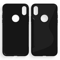Wholesale S Shape Phone Cases - New High Quality Soft TPU S Shape Colorful Phone Cases For iPhoneX 6 6s Back Cover For iPhone X 7 8 xcover 4,note 8,s8 +,k4 k8 2017