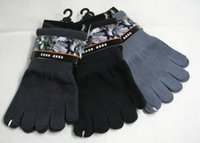 Lotto 3 paia Low Cut Bamboo Charcoal Five Toe Socks Five 5 Fingers Warm Toes Sport Sock 8-10