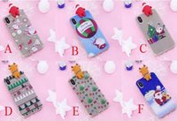 Wholesale Iphone Santa Case 3d - Fashion Christmas Style with 3D Santa Claus PaPa Soft TPU Phone Cover case For iphone X 8 7 6 6S Plus 5S Samsung S8 PLUS NOTE8