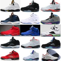 2016 Retro 5 OG Black Metallic Mens uva 5s Basketball Shoes Atacado Alta qualidade couro genuíno Air Retro Sneakers Eur 41-47 US 8-13