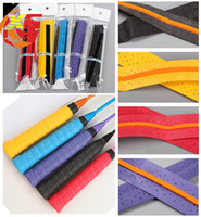 Wholesale Grips Rackets - 110cmTennis Badminton Racket Overgrips Anti-skid Sweat tape Absorbed Racquet OverGrip Fishing Skidproof Sweat Band grip tape