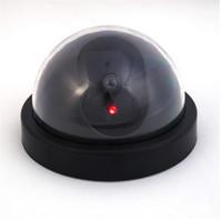 gözü kırp toptan satış-Kukla CCTV Kamera Flaş Yanıp Sönen LED Açık Sahte Kamera Güvenlik Simüle Video Gözetim Sahte Gerçekçi Kırmızı Işık Güvenlik Kamera Yeni