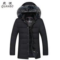 Wholesale Business Fox - Wholesale- 2017 New Arrivals Thick Keep Warm Winter Duck Down Jacket Men Fox Fur Collar Parkas High Quality Business Casual Down Coat 3XL