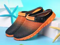 Wholesale New Beach Shoes Mens Sandals - Big Size 36-46 Men Summer Shoes Sandals New Breathable Beach Flip Flops Slip On Mens Slippers Mesh Lighted Unisex Shoes