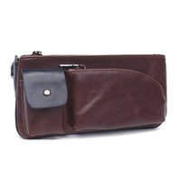 Wholesale Designer Leather Iphone Cases - Alivictory Designer Leather Waist Bags Mens Fanny Pack Outdoor Run Belt Phone Money Pouch Fashion Sport Riding Bags Case for Iphone 6plus