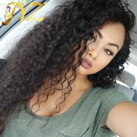 Wholesale Swiss Line - Goldleaf Hair Pre Plucked Deep Curly Human Hair Wigs Top Quality Malaysian Peruvian Full Lace Wigs Lace Front Wig With Natural Hair Line