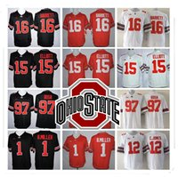 Wholesale 15 Yellow - Stitched LIMITED NCAA Ohio State Buckeyes #15 Elliott #97 Joey Bosa #12 C.JONES #16 BARRETT #1 B.Miller Jersey Wholesale Hot Sale
