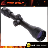 francotiradores alcance al por mayor-FIRE WOLF Riflescope 4x40 Cristal verde Rifle Scope Exterior Retículo Vista óptica Sniper Deer Tactical Hunting Scopes