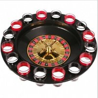 Wholesale Sell Turntables - 2017 new Hot sell originality 16 hole KTV bar party Russian roulette Cup games wine Glass turntable Wine Tools wholesale free shipping