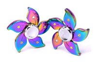 NOVO Factory Sales Rainbow Spinner Metal Fingertip Colorful Hand Spinner EDC Brinquedos Com Pacote De Varejo US dollar Flower Camouflage Crab Pliers