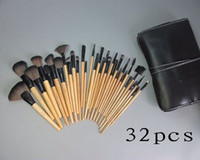 Wholesale Set Brushes 32 Pieces - Factory Direct DHL Free Shipping New Makeup Brushes 32 Pieces Brush Sets+Leather Pouch!