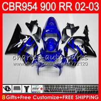 Wholesale Honda Cbr 954 Rr - Body For HONDA CBR900RR CBR954 RR CBR954RR 02 03 CBR900 RR 66HM6 CBR 900RR CBR 954 RR CBR 954RR 2002 2003 Fairing kit 8Gifts