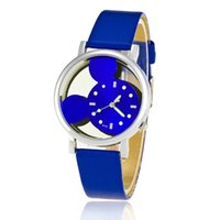 Wholesale Watch Head Wholesale - The new 2017 hot style in Europe and the wind watch of wrist of men and women fashion watches mickey head LvKong quartz watches wholesale