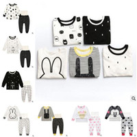 Wholesale Outfit Rabbit - Ins Pajamas for Kids Baby Girls Cartoon Mickey Minnie Mouse Rabbit Outfits High Waist Sleepwear Girls Nightwear Baby Pyjamas Kids Clothing