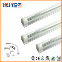 Wholesale Tube Led Cooler Door Lights - LED Tube 8FT V Shaped 4 Feet 5FT 6FT 8Feet LED T8 Integrated Tube Cooler Door Double Sides SMD2835 LED Fluorescent Tube Light