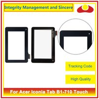 Wholesale Acer Iconia Digitizer - For Acer Iconia Tab B1-710 B1-711 B1-720 B1-721 And One 7 B1-730 B1-730HD Touch Screen Sensor Digitizer Front Outer Glass Lens Panel