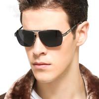 Wholesale Goggle Motorcycle Silver Lens - 2017Men Polarized Sunglasses Eyewear Eyeglasses Metal Frame Shield Sun Glasses Goggle Motorcycle Shade Point Lens UV400 Antireflect Driving