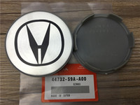 "Wholesale Wholesale Chrome Rims - Hot Sale 50Pcs 69mm wheel rim center cap Chrome insert logo 2.75"" 69mm H WHEEL CENTER HUB CAPS"