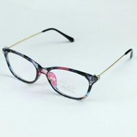 schmetterling geformte brille großhandel-Großhandels- 2017 neue Marken-reizvolle Dame Glasses Butterfly Shape starke optische Rahmen-volle Metallbeine mit Blumen-Entwurfs-Rhinestone