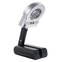 lup, camı aydınlatmak toptan satış-16X30mm Işıklı Büyüteç Büyüteç LED Katlanır Standı Takı Büyüteç