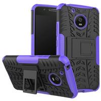 Wholesale Galaxy Lite - For Galaxy S8 Plus Case C9 Pro Huawei P8 Lite 2017 Moto G5 ShockProof Dazzle Kickstand Rugged Hybrid Armor Hard PC+TPU Anti-Skid Dual Cover