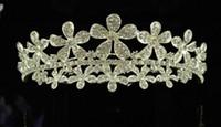 Wholesale bridal combs for sale - New Fashion Vintage Wedding Bridal Crystal Rhineston Beaded Hair Accessories Headband Band Crown Tiara Ribbon Headpiece Jewelry HT01