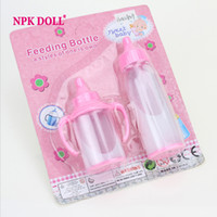 Wholesale Toy Pacifiers - Plastic Pacifier Magic Feeding Bottle PP Soother Kids Toys for Dolls Silicone Reborn Baby Doll Accessories