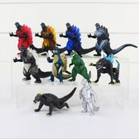 juegos de juguetes godzilla al por mayor-10 Unids / set Película Godzilla Figura de Acción de juguete Recoger Juguete 8 cm El Mejor Regalo de Navidad para Niños Envío Gratis