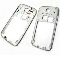 Wholesale S4 Back Plate - For Samsung Galaxy S4 i9505 I9500 i337 Back Housing Middle Bezel Frame Plate Case+Side Button Key White Black Gold Colour