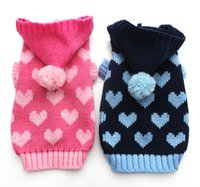 Wholesale Love Pink Clothing Sweaters - 3pcs lot,Dog Pet sweater Jumper Loves Cat Puppy Coat Jacket Warm Clothes apparel High qualiity