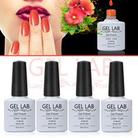Wholesale Salon Gel Lamps Wholesale - Wholesale-GEL LAB 10ml Soak Off GEL Polish Nail Polish Top Base Coat UV LED LAMP Primer Manicure Tool Nail Salon