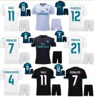 Thai quality 2018 new Real Madrid Home white Soccer Jersey KIT 17 18 Away  black soccer shirt Ronaldo Bale Football uniforms Asensio SERGIO ... 06bb5f850