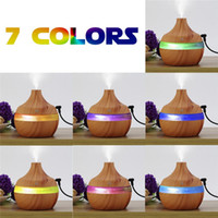 Wholesale Wholesale Aromatherapy Diffusers - 300ML Ultrasonic Humidifier wood grain Aromatherapy diffuser essential oil diffuser usb ultrasonic humidifier aromatherapy car diffusers