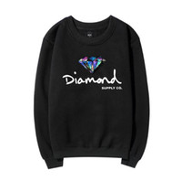 Wholesale Loose Natural Round Diamonds - Autumn and Winter New Diamond Letter Pattern Sweatshirt Men and Women Long Sleeve Round Neck Pullover