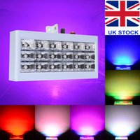 Strobe Lights 18 LED RGB Flash Light Stage Party Wedding Lighting Son activé pour Club Disco